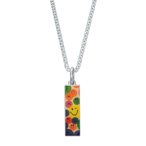 Kaya's,Emojis,Laurel,With,Kenton,Station,Chain,-,16in,in,silver,SILVER CHAMBER JEWELLERY,NECKLACE