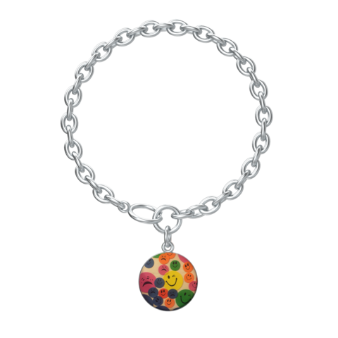 Kaya's,Emojis,Lotus,Coin,with,Aurora,Bracelet,in,silver,SILVER CHAMBER JEWELLERY, BRACELET