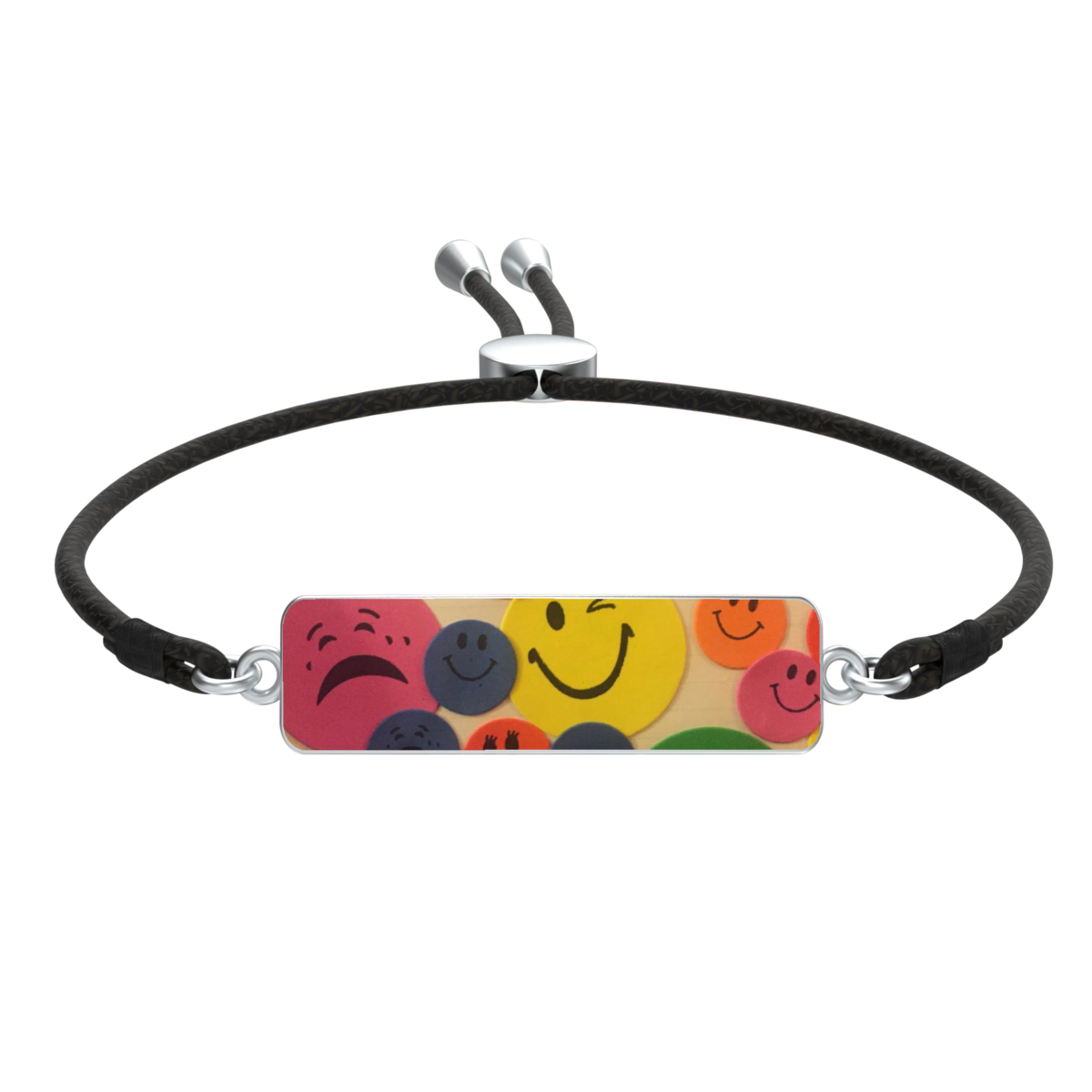 Kaya's Emojis Jaylon with Liv Cord in silver - product image
