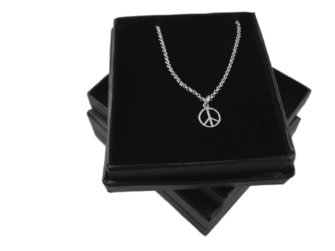 PEACE,SYMBOL,SILVER,CHARM,NECKLACE,SILVER CHAMBER JEWELLERY,Pendant