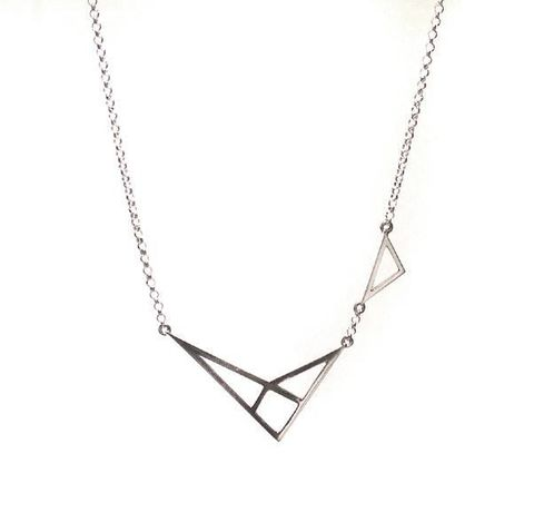 GEOMETRIC,SILVER,PENDANT,NECKLACE,SILVER CHAMBER JEWELLERY