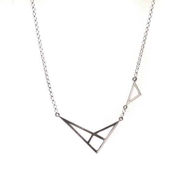 GEOMETRIC SILVER PENDANT NECKLACE - product images  of