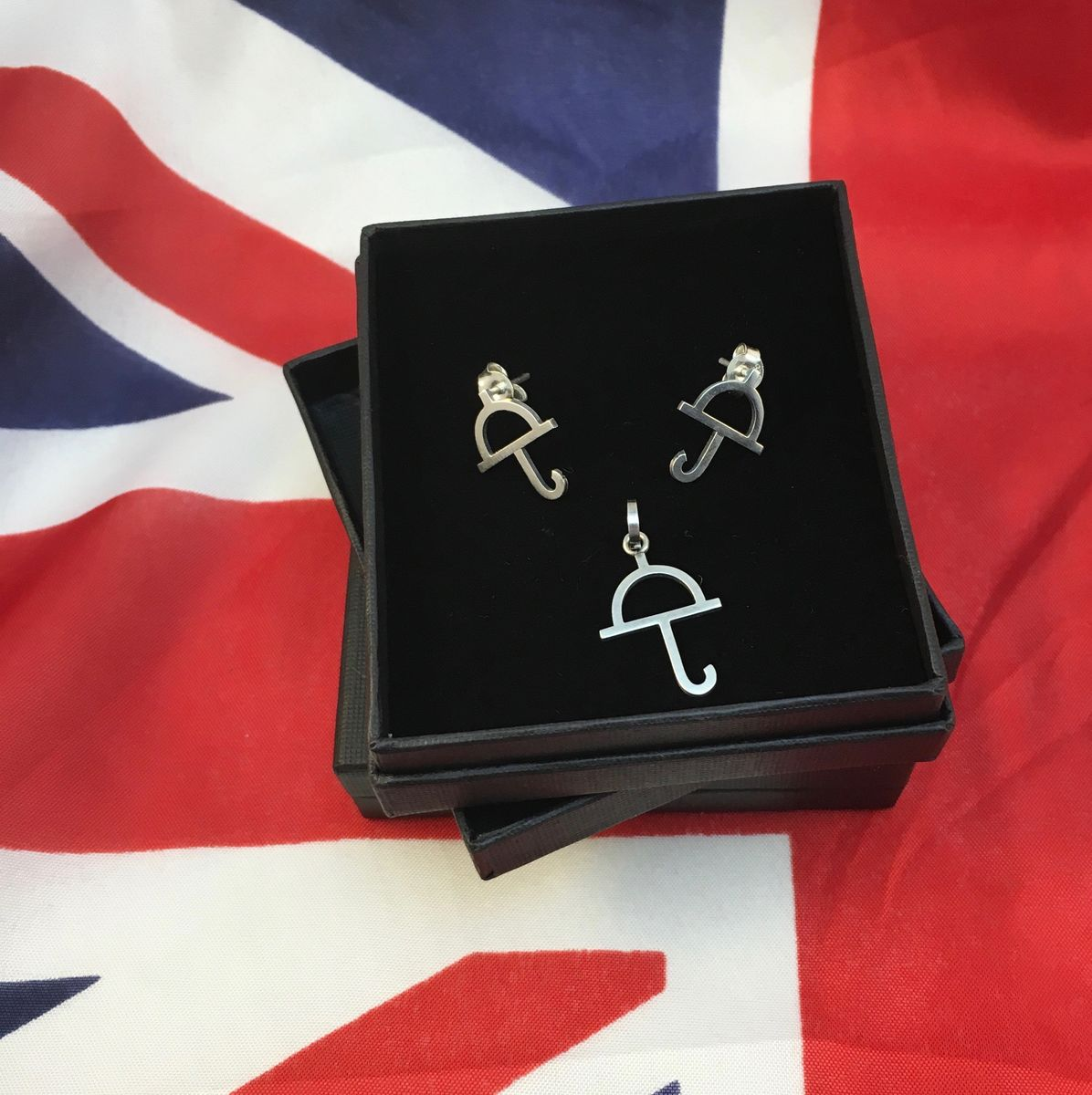 English Weather SILVER STUD EARRINGS - product images  of