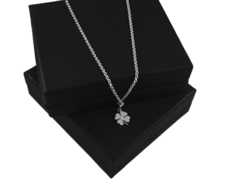 CLOVER,SILVER,CHARM,NECKLACE,SILVER CHAMBER JEWELLERY,PENDANT