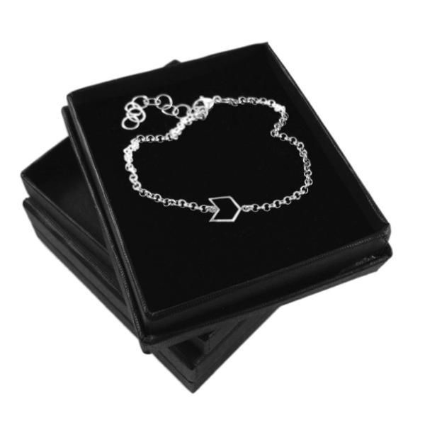 CHEVRON SILVER CHAIN BRACELET - product images  of
