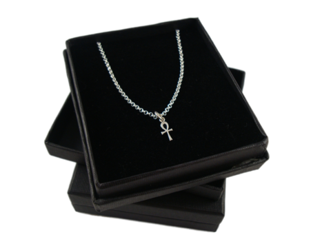 ANKH,SILVER,CHARM,NECKLACE,SILVER CHAMBER JEWELLERY, Necklace