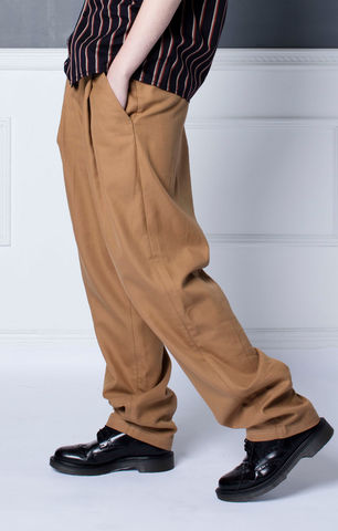[SPECIAL,OFFER,--,PRE-ORDER],Wide,Pleated,Khaki,Chino,Trousers