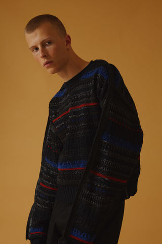 Black,Taped,Edge,Subtle,Texture,Jumper,jumper