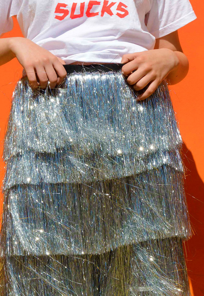 Silver Tinsel Trousers - product images  of