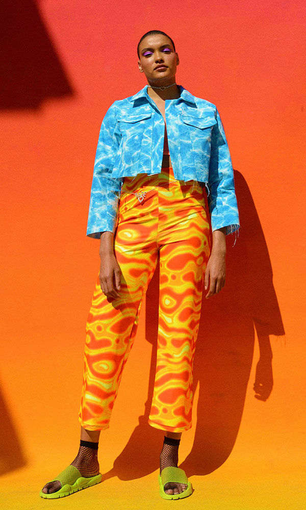 Tye Dye Lava Trousers - product image