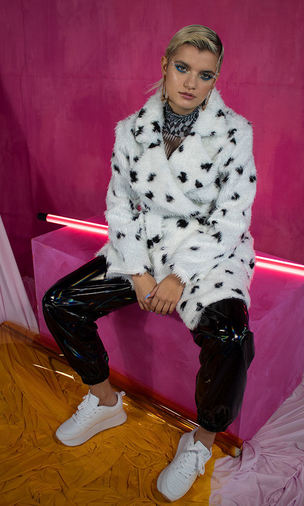 Dalmation Faux Fur Coat - product images  of
