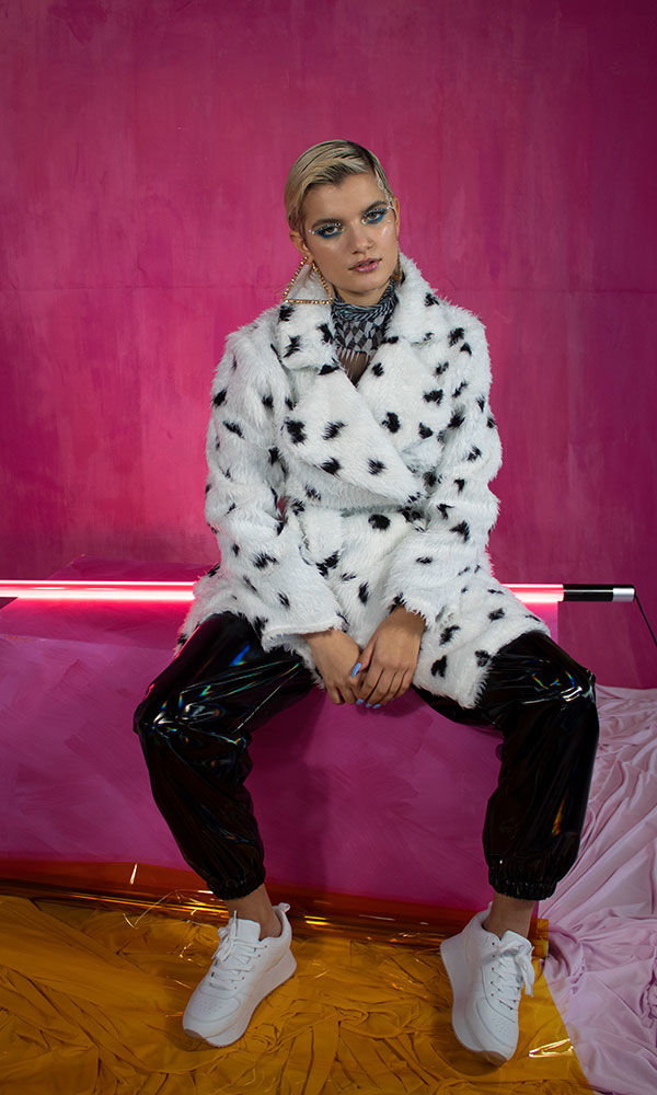Dalmation Faux Fur Coat - product image