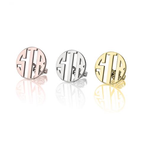 Capital Monogrammed Earrings Studs Name Plate Bracelet Gold
