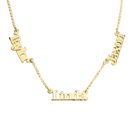 0b4363b133cdf Capital Letters Border Monogram Necklace