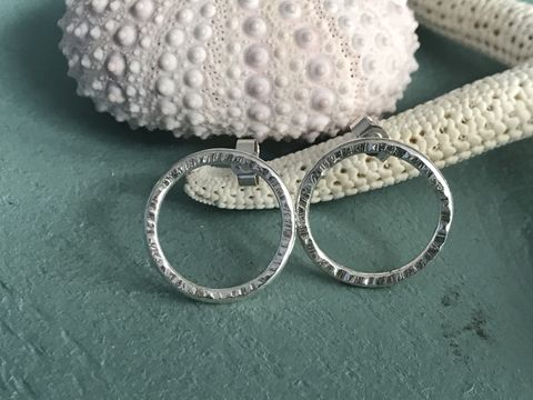 Open,Circle,Studs,Stud, earrings, sterling silver