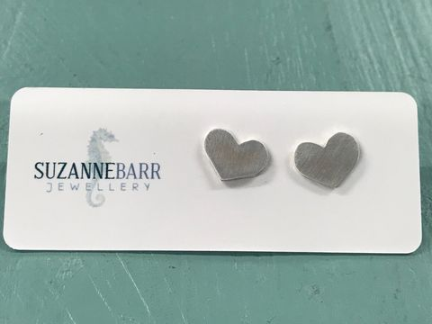 Sterling,Silver,Heart,Stud,Earrings,Jewelry,handmade,Jewellery,stud,earring,Sterling_Silver