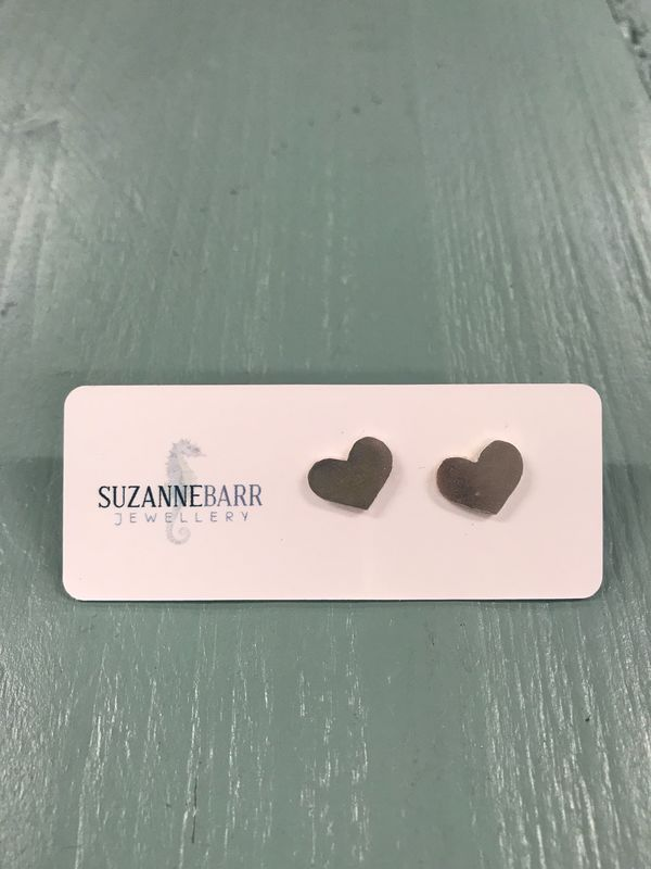 Sterling Silver Heart Stud Earrings - product images  of