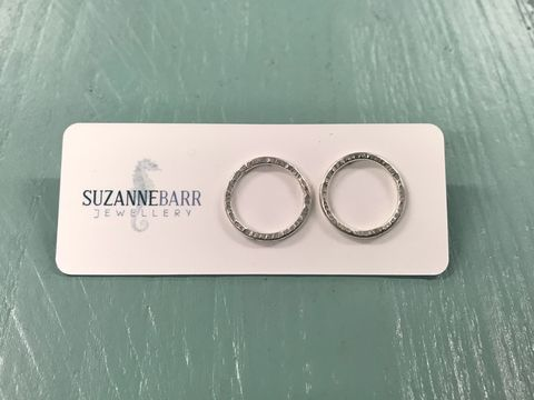 Sterling Silver Open Circle Stud Earrings - product images  of