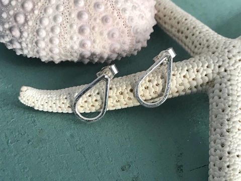 Teardrop,stud,earrings,Jewelry,Earrings,Sterling_silver,handmade,jewellery,gift,teardrop