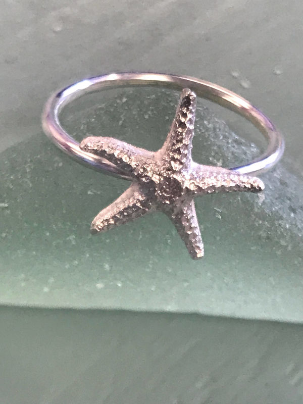 Starfish Sterling Silver Ring - product images  of