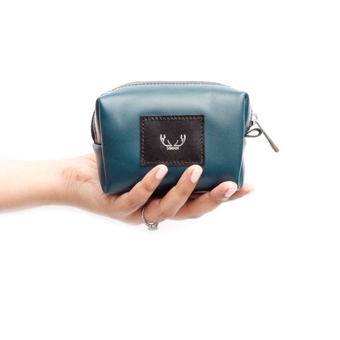 Teal,Petite,Millie,Cosmetic,Bag,cosmetic bag, make up bag, teal, blue, green