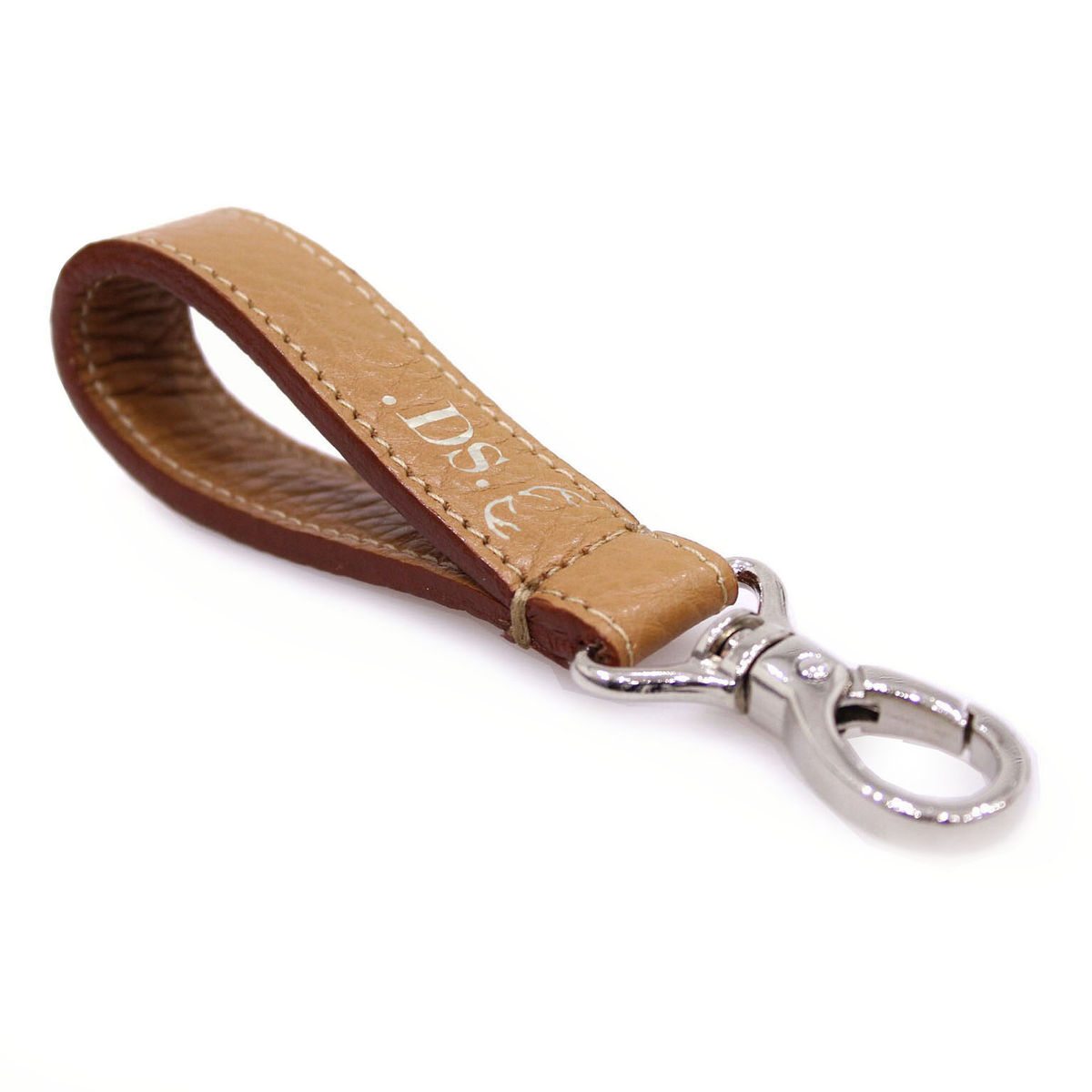 Tan Personalised Keyring - product images  of