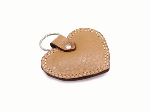 Personalised,Tan,Heart,Keyring,leather keyring, personalised keyring, heart shaped keyring, leather, tan