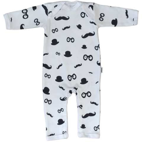 Moustache,Pattern,Babygrow,In,Black,and,White,by,Snuglo