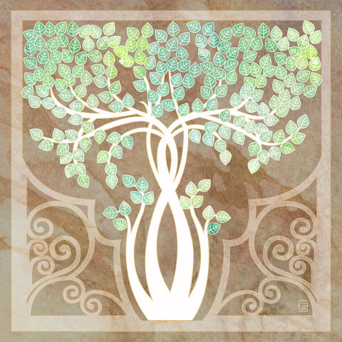 Birch,Tree,tree, white tree, birch, art nouveau, arts and crafts tree