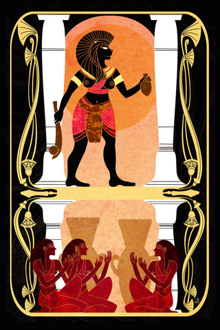Offer,of,Beer,-,Sekhmet,egyptian mythology, goddess, lion goddess, goddess of war, goddess of beer, sekhmet