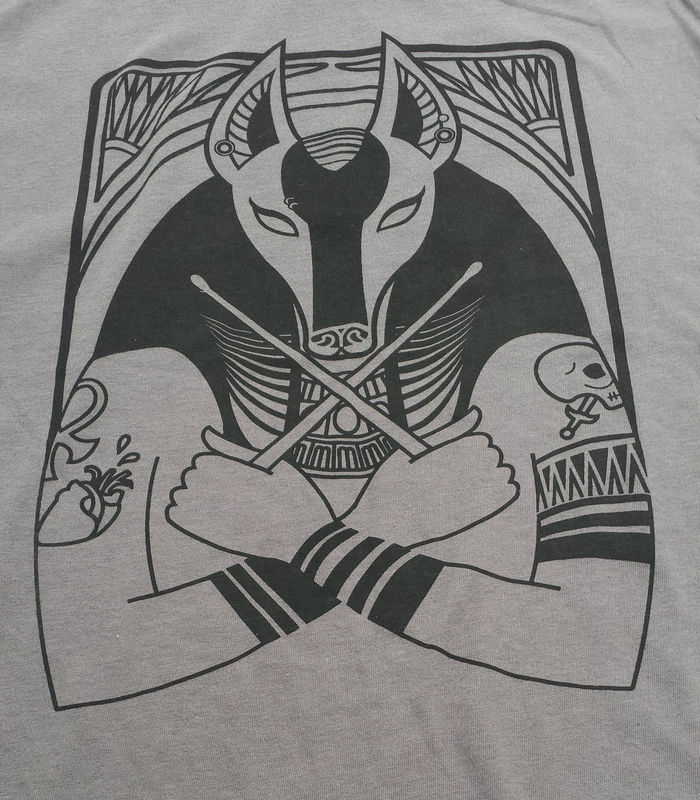 Goth Drummer Anubis - Hip Egyptian Series Hand Screened Shirt - product images  of