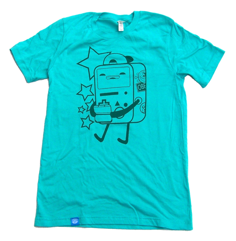 Let's Play Video Games - BMO inspired hand screen printed shirt - product images  of