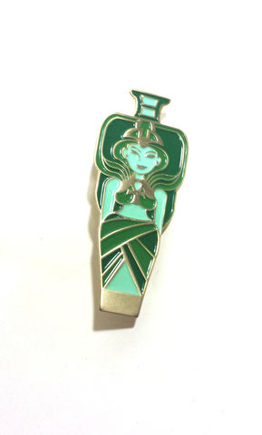 Nephthys-,2,enamel,pin,amulet,egyptian mythology, egyptian amulet, nephthys, book of the dead