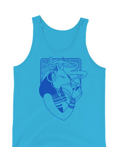 Bastet,-,Hip,Egyptian,Series,Hand,Screened,Tank,Top,bastet, bast, cat goddess, egyptian goddess