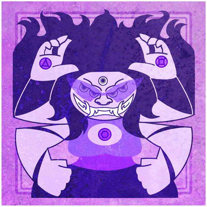 Twilight Juggernaut - Sugilite Fusion Crest inspired from Steven Universe - product images