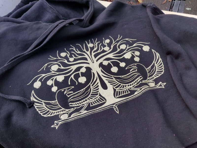 Cropped Hoodie - Crows and Pomegranates - product images  of