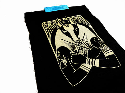 Premium,Canvas,Patch,-,Anubis,canvas patch, punk patches, jacket patches, queer occult