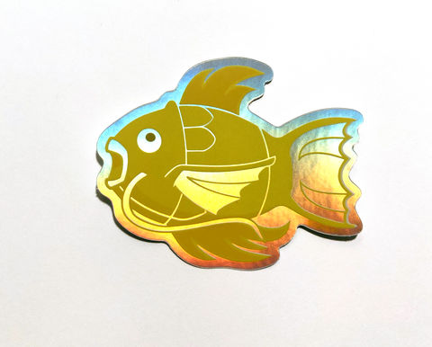 Golden,Magikarp,Vaporwave,vinyl,sticker,magikarp, golden magikarp, pokemon, pokemongo