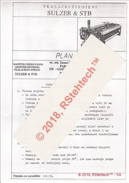 Work plan_adjusting on СТБ2-180 - product image