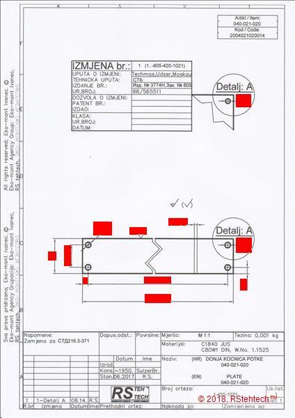 Guide_technical drawing for plate - product image