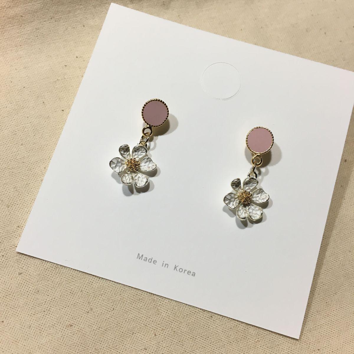 Daisy Earrings In Pink