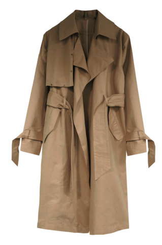 DROP,SHOULDER,TRENCH,COAT,WITH,GUNMETAL,STUD,DETAIL,TRENCH COAT