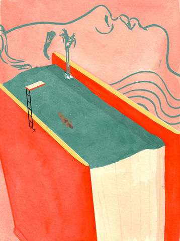 The,Pleasurable,Immersion,in,the,Stories,of,Other,People's,Pain,Giclee Print, Jade Schulz, Pleasurable, Swimming Poool