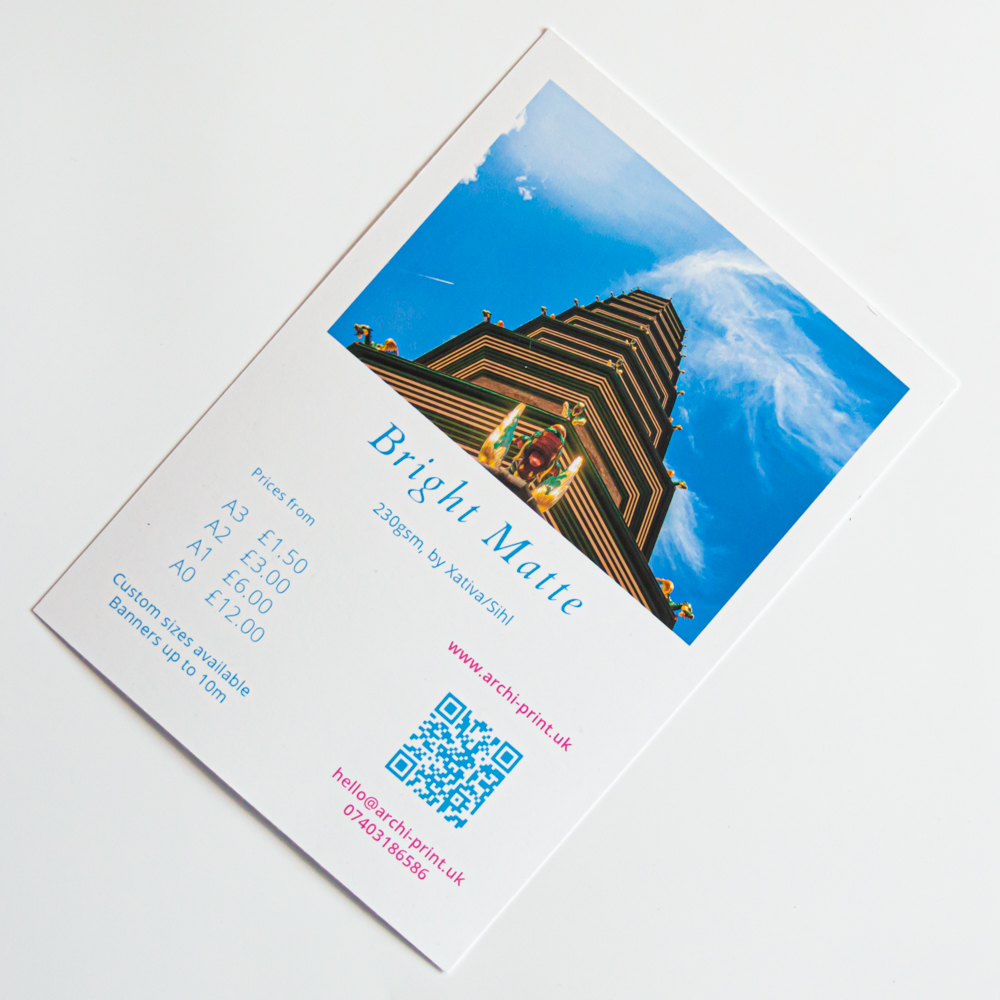 Student Printing in London by ArchiPrint UK