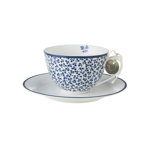 Laura,Ashley,8.8oz,Cup,and,Saucer,Floris,Laura-Ashley-Blueprint-Collectables-Tableware-Cup-Saucer-Floris