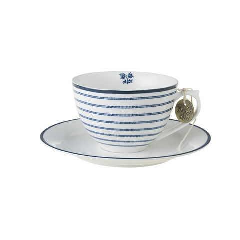 Laura,Ashley,8.8oz,Cup,and,Saucer,Candy,Stripe,Laura-Ashley-Blueprint-Collectables-Tableware-Cup-Saucer-Candy-Stripe