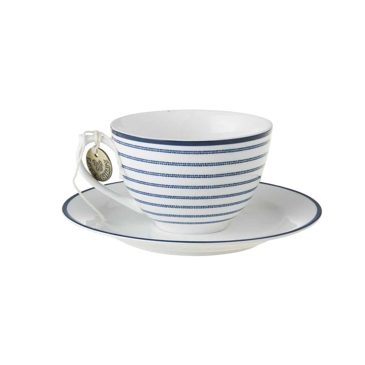Laura Ashley 8.8oz Cup and Saucer Candy Stripe - product images  of