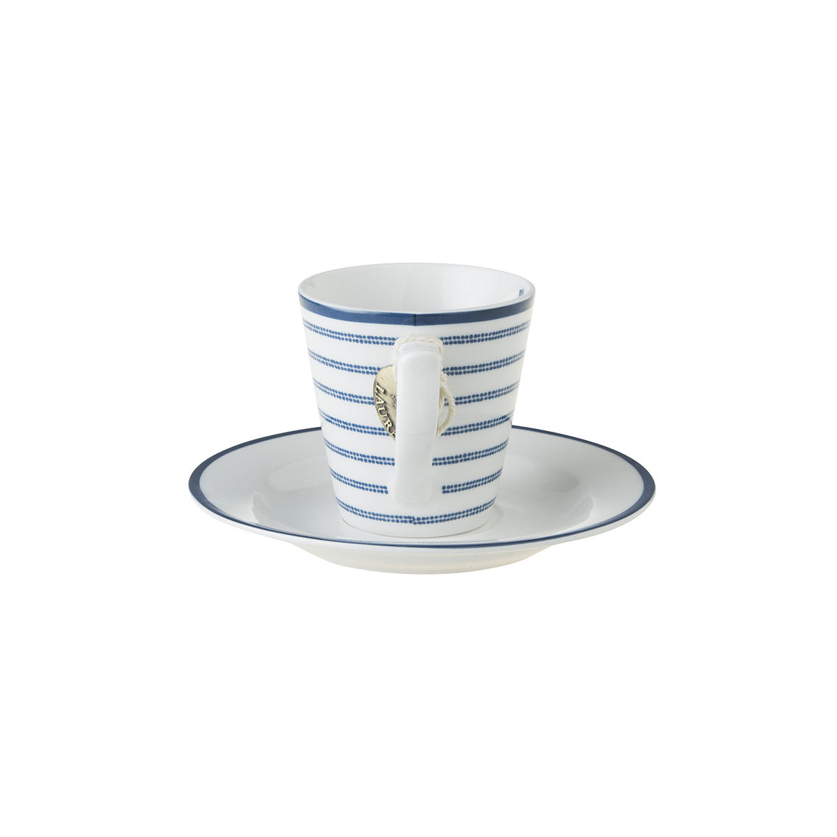 Laura Ashley Espresso Cup and Saucer Candy Stripe - product images  of