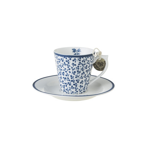 Laura,Ashley,Espresso,Cup,and,Saucer,Floris,Laura-Ashley-Blueprint-Collectables-Tableware-Espresso-Cup-Saucer-Floris