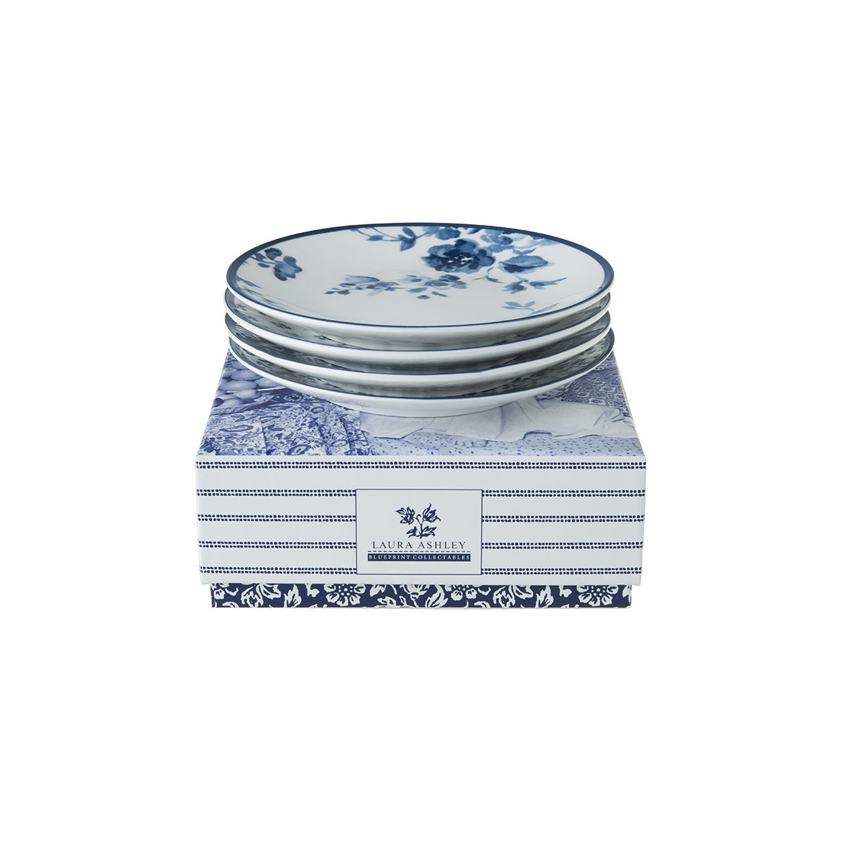 Laura Ashley Set Four Boxed Petit Four Plates - product images  of